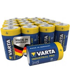Set 2 baterii alcaline R20, Varta Industrial